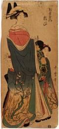 071398 UTAMARO JAPANESE WOODBLOCK PRINT 19TH C 20