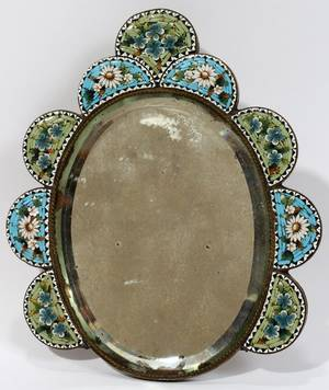 071367 ITALIAN MIRROR WITH MICROMOSAIC FRAME H 5 12