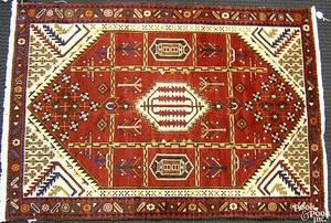 Contemporary Shiraz throw rug