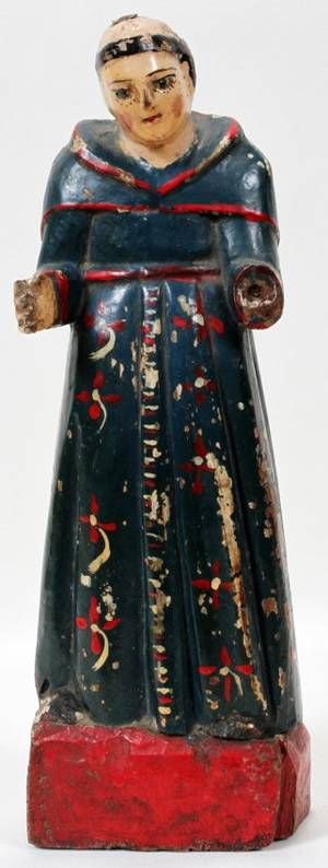 110332 CARVED WOOD POLYCHROME SANTOS H 14