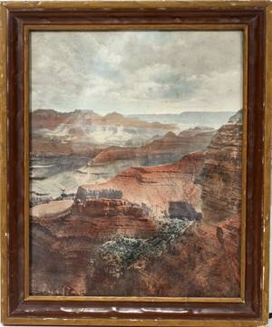090325 COLOR LITHOGRAPH GRAND CANYON 10 X 8