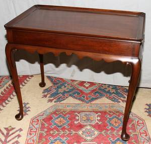 072360 KITTINGER QUEEN ANNE STYLE MAHOGANY TEA TABLE