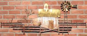 071414 CURTIS JERE 20TH C METAL WALL SCULPTURE C
