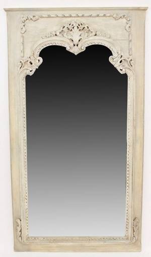 20th C Painted Trumeau Mirror