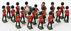 120383 BRITAINS LEAD TOY SOLDIER BAND C1920 19 PCS