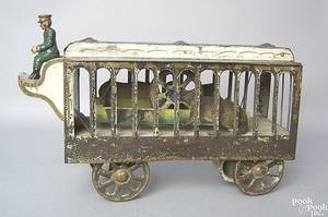 Rare Dayton painted pressed steel mechanical animal car early 20th c