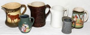 091452 ANTIQUE PITCHERS LATE 19THEARLY 20TH C SIX