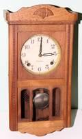 120519 SEIKOSHA WALNUT HANGING CLOCK H 18 W 9