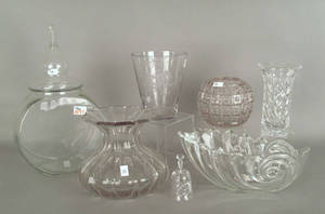 Seven pcs of colorless glass Provenance The Estate of Anne Brossman Sweigart