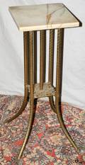 092482 FRENCH EMPIRE STYLE BRASS  ONYX STAND