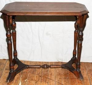 092478 LOUIS XVI STYLE WALNUT SIDE TABLE