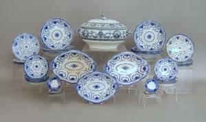 Thirtysix pcs of blue and white china