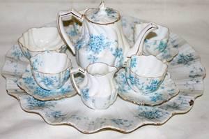 081468 CHAPMAN ENGLISH PORCELAIN TEA SET C 1900