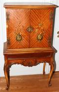 082435 HANDPAINTED SATINWOOD CABINET C 1925 H 56