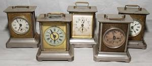 071573 GERMAN METAL CARRIAGE CLOCKS EARLY 20TH C FI