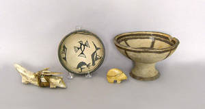 Seven pcs of Native American pottery