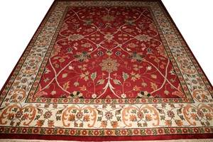 080013 INDIAN HAND MADE ORIENTAL RUG 9 X 12