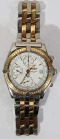 071031 BREITLING 18KT YELLOW GOLD  STAINLESS STEEL CH