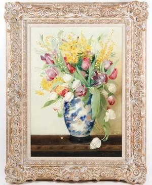 Cecil Kennedy Floral Still Life OC Signed
