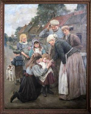 012084 19TH C EUROPEAN SCHOOL OIL ON CANVAS