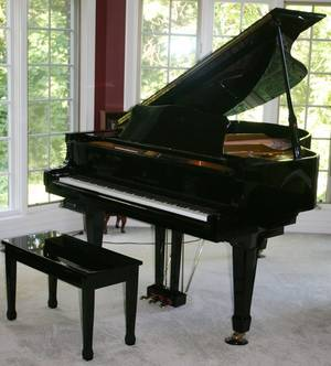 011068 YOUNG CHANG PIANO WITH BENCH H 39 W 58
