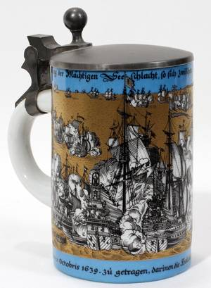 121092 GERMAN PORCELAIN STEIN