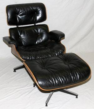 121147 EAMES LOUNGE CHAIR  OTTOMAN FOR HERMAN MILLER