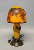 Reproduction Galle lamp with grapevine decoration