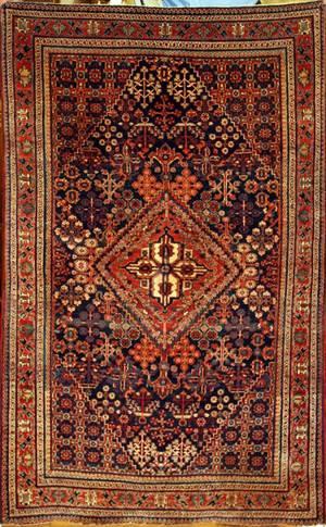 122061 BIJAR HAND WOVEN WOOL PERSIAN RUG