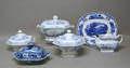 Four pcs of Singanese Ironstone to include tureen