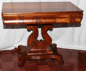 AMERICAN EMPIRE MAHOGANY GAMES TABLE C 1840