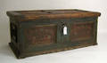 Continental painted dower chest dated 1790