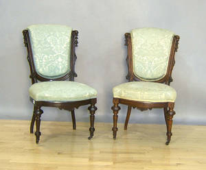 Pair of Victorian chairs attributed to Jelliff