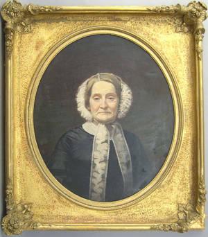 Oil on canvas portrait of Margaret Cooke Hazen
