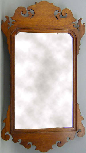 Chippendale style mahogany looking glass