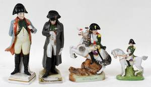 GERMAN PORCELAIN FIGURES OF NAPOLEON  A PLAQUE