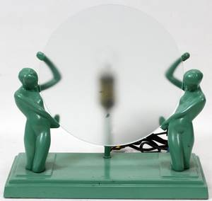 122183 ART DECO TABLE LAMP FROSTED DISK