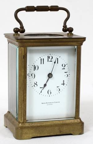 121293 FRENCH BRASS CARRIAGE CLOCK EARLY 20TH C