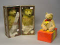 Two Steiff 100th Anniversary teddy bears in the original boxes
