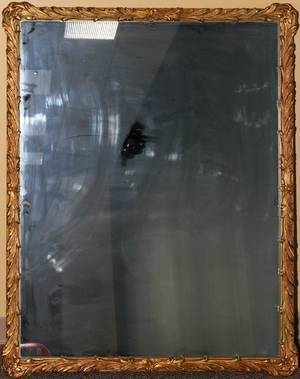 GILT WOOD FRAMED MIRROR H 40 L 50