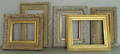 Nine carved giltwood frames in various sizes ranging from 16 12 x 12 to 20 x 20 12
