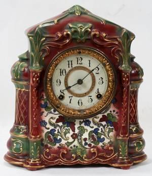 ANSONIA CLOCK COMPANY PORCELAIN MANTLE CLOCK