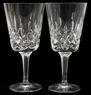 012323 GORHAM CUT CRYSTAL WATER GLASSES 12 H 7