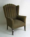 Regency mahogany wing chair