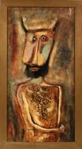 RENO FOLK ART ON BOARD 48 X 24 MASKED MAN