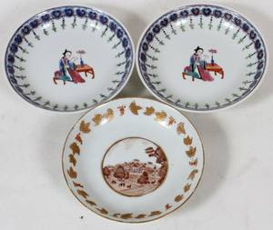 CHINESE EXPORT PORCELAIN PLATES 18TH C 3