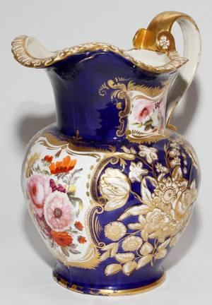 SPODE DEMIPORCELAIN WATER PITCHER LATE 19TH C