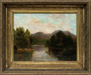 122331 AMERICAN OIL ON CANVAS C 1900 13 X 17