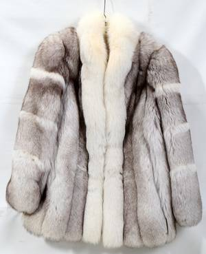 020360 SAGA FOX FUR COAT
