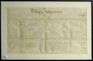 Three Pennsylvania indentures